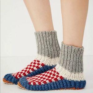 Free people Ariana bowling alpaca 🦙 slippers NWT